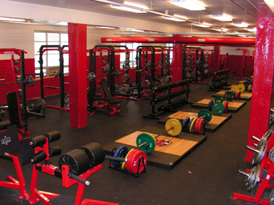 Big Red Football - Weight room design